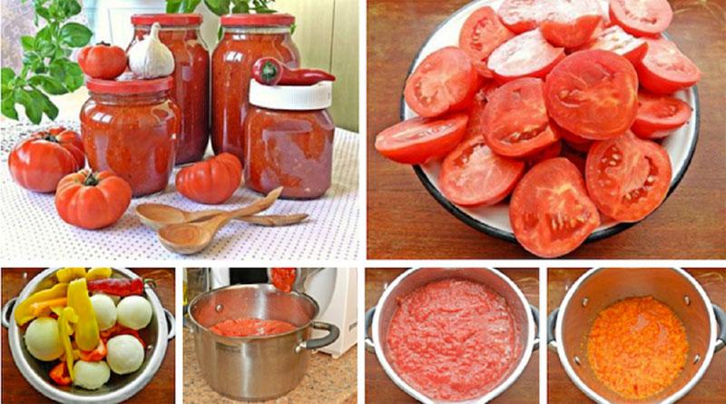 Соус из помидоров и перца на зиму! Вкус просто обалденный!
