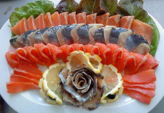 Варианты оформления рыбной нарезки на праздничный стол