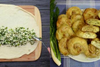 Мега аппетитные саралии с зеленью и брынзой