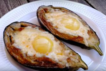 Супер завтрак: баклажан по-аджарски