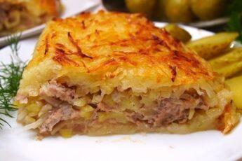 Картофельно-мясная запеканка. Забытый, но очень вкусный рецепт.