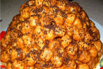 Торт из кукурузных палочек (торт без выпечки)