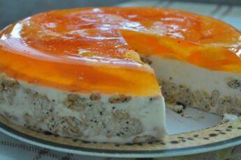Обалденный торт без выпечки «Апельсинка»