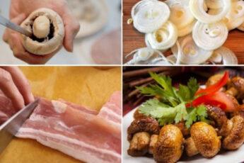 Шашлык из шампиньонов. 15 минут в обычной духовке — ароматная закуска готова!
