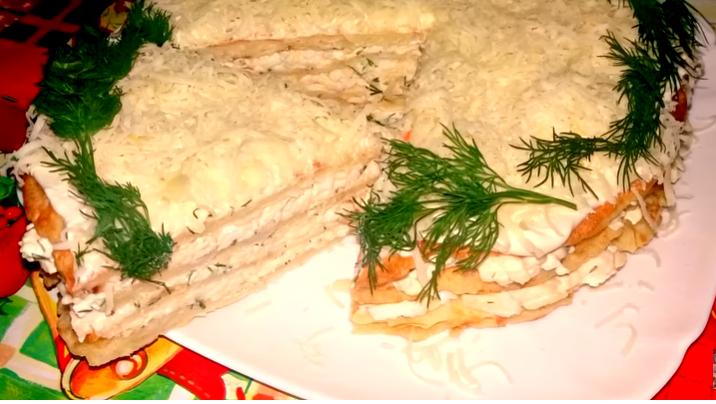 Вкуснятина из Капусты за 15 минут. Закусочный торт на Праздничный Стол или Ужин