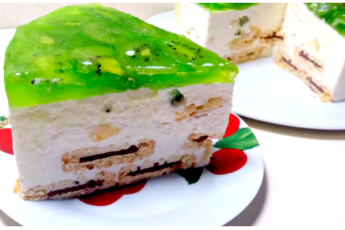 """Торт Без Выпечки Раз Два и все Довольны. Торт """"Наслаждение"""" Торт-суфле из Творога и Фруктов"""