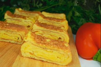 ОМЛЕТ По-НОВОМУ! Готовлю каждый день этот Вкусный и Быстрый Завтрак ОМЛЕТ РУЛЕТ с Сыром на сковороде