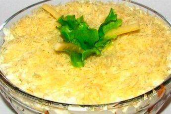 Вкусный салат «ИЗЫСКАННОСТЬ» с необычным ингредиентом внутри, смотрите каким…