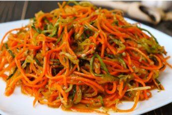Вкуснейшая закуска - морковь по-корейски. Хрустящая и сочная. Попробуйте!