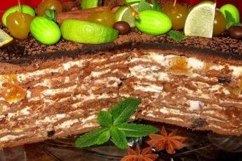 Шоколадный медовик. Бисквит как губка, а крем - отрада для сладкоежки.
