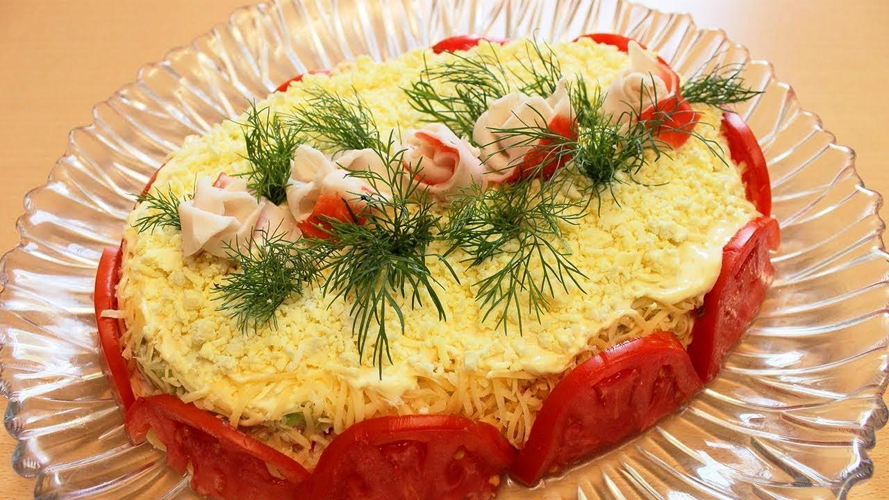 Новый салат «РОЗОВЫЙ ВЕЧЕР» — нежный и шикарный