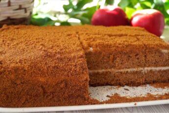 """Торт """"Медовик"""" Без раскатки коржей! Нежный, Ароматный, Очень вкусный!"""