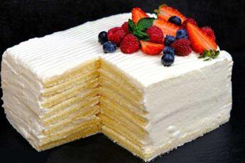 Торт «Молочная девочка» за 30 минут без возни с коржами