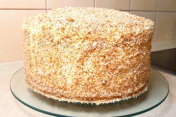 Торт «Медовый». Семейный рецепт без раскатки коржей