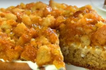 Очень вкусный и необычный пирог с вареньем