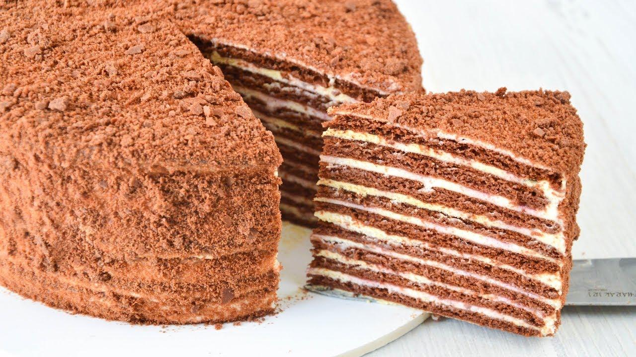 Шоколадный торт на сковороде. Нежнее нежного!