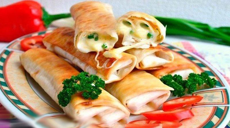 Жареный лаваш с сыром: Быстрая и простая закуска