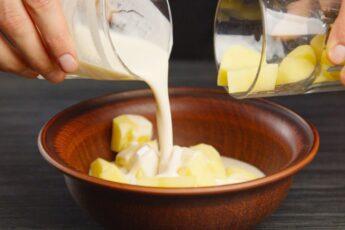 Стакан сырой картошки и немного ряженки.. Забытый деревенский рецепт!