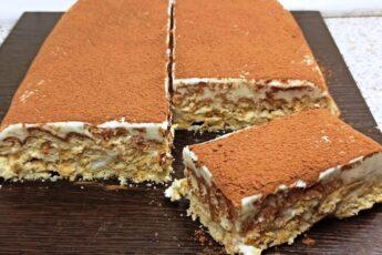 Торт из печенья со сметанным кремом