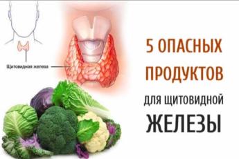 5 опасных продуктов для щитовидной железы. Осторожно!